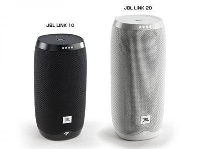 JBL Link 10 đứng cạnh Link 20